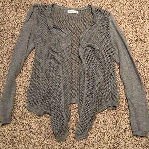 A&F Grey open knit cardigan - NWOT